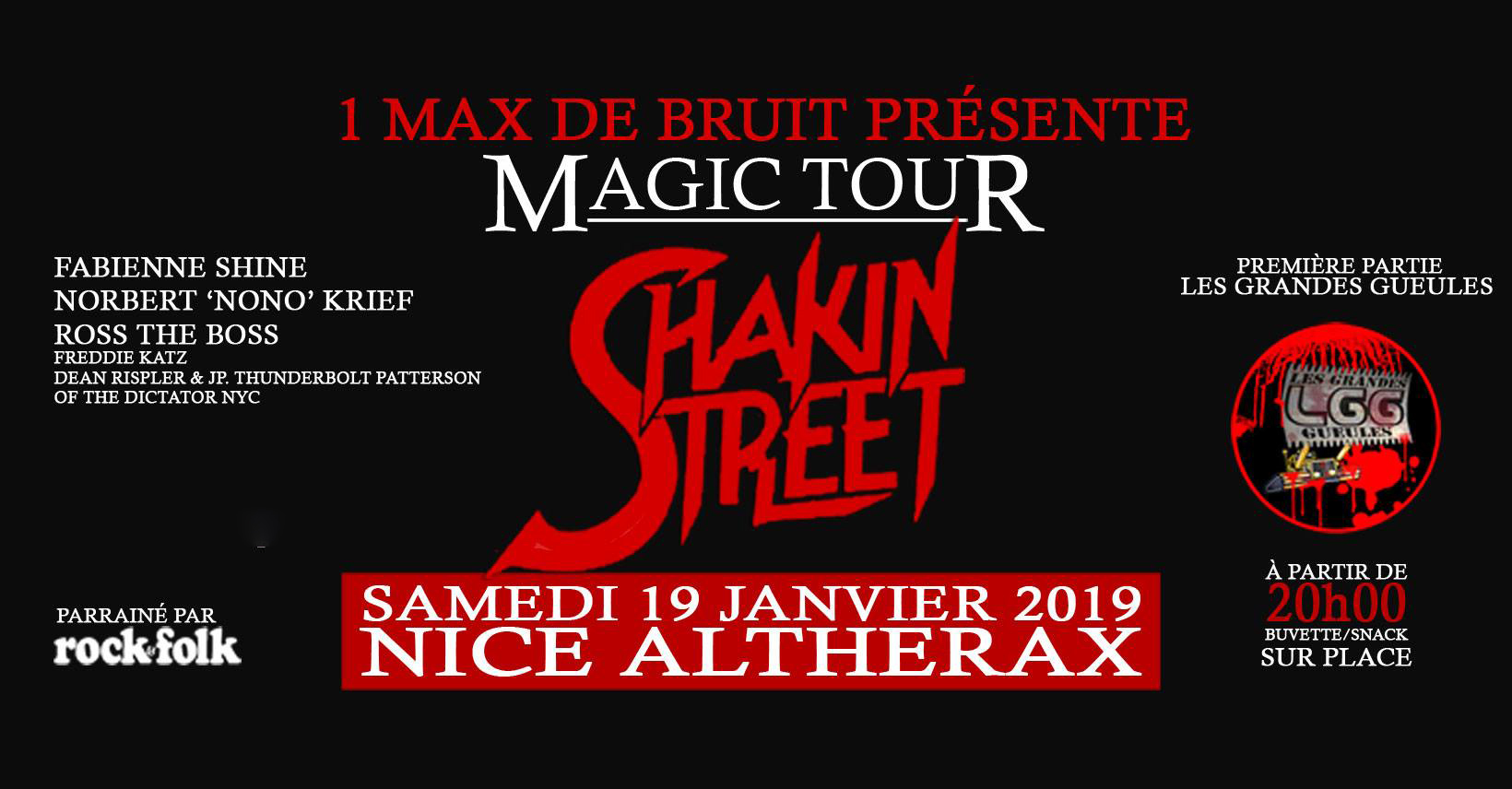 Billetterie : SHAKIN STREET - MAGIC TOUR